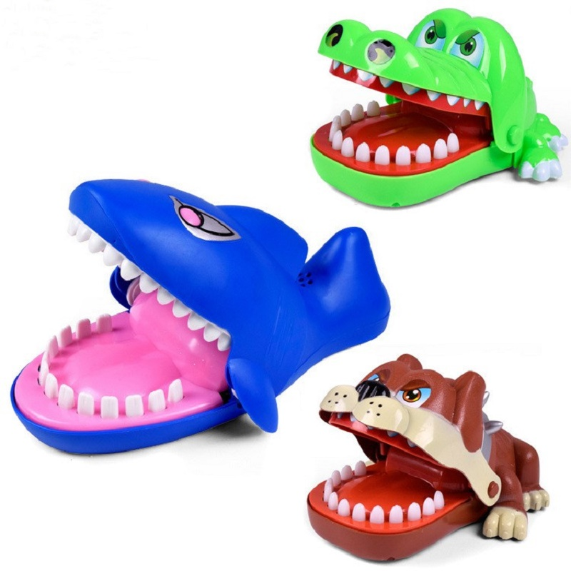 Shark Bulldog Crocodile Large Mouth Bite Finger Game Funny Novetly Teeth Toy For Kids Gifts And Family Party Game