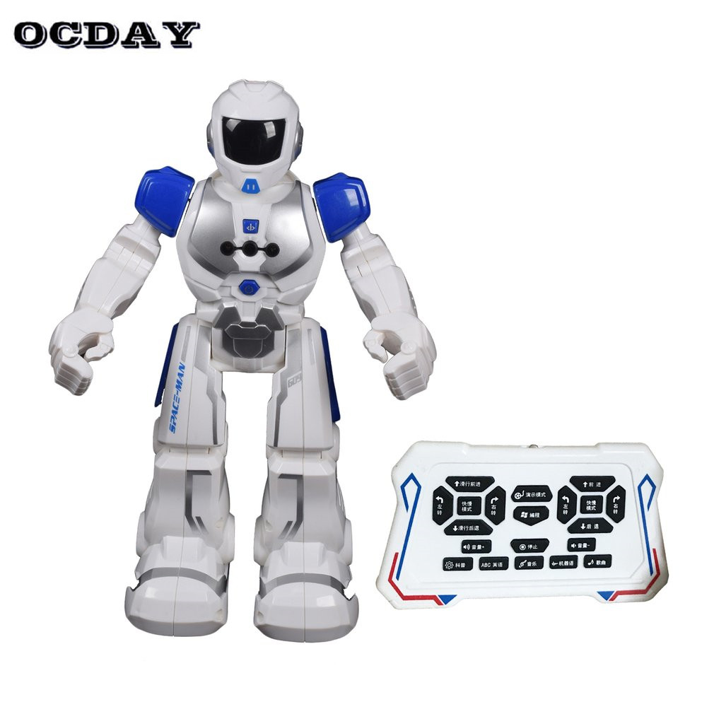 RC Smart Space Robot Intelligent Remote Control Robotica Toy Walking Dancing Humanoid Robot For Children Kids Birthday Gift kids toy space dancing robot lz444