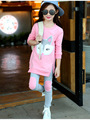 New Autumn kids clothes girl long sleeve fox top+pant set 2 pieces children cotton clothes suit for 6~16 years kids