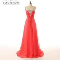 Watermelon Prom Dresses Long 2017 Cheap Vestido De Festa Beading Chiffon Special Occasion Bridesmaid Gowns Party