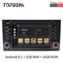 Автомобильный мультимедийный плеер topbsna android 81 для audi/a4/s4