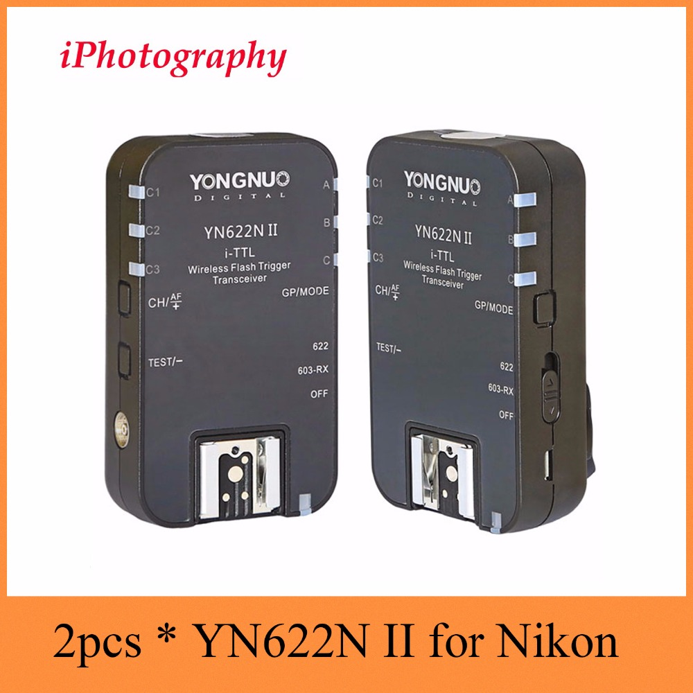Yongnuo YN-622N-TX i-TTL LCD wireless flash trigger transceiver,YN-622N II TTL Wireless Flash Trigger For Nikon DSLR can choose аксессуар yongnuo yn 622n ii для nikon радиосинхронизатор