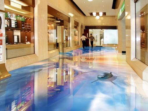 3d photo wallpaper Custom 3d stereoscopic Ocean Sky floors PVC wear self-adhesive 3d floor wallpaper murals home decoration