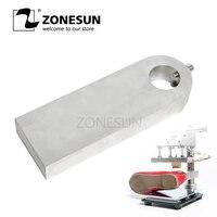 ZONESUN sıcak folyo damgalama makinesi plaka çalışma tahtası kabartma makinesi için kabartma damga ayakkabı deri çanta