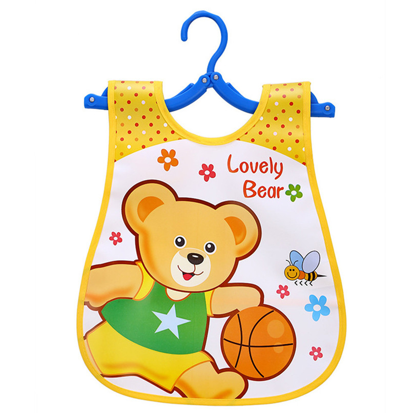Adjustable Baby Bibs EVA Plastic Waterproof Lunch Feeding Bibs Baby Cartoon Feeding Cloth Children Baby Apron Babador de bebe (7)