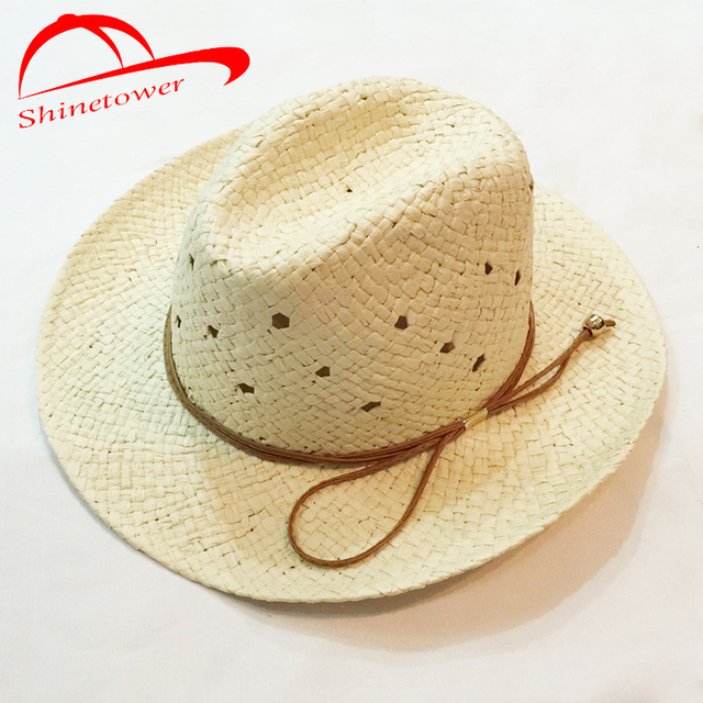 Shinetower  Aba Larga Floppy Sun Chapéu de Palha do Verão Chapéus Para  Mulheres Chapéu 0a113160cd