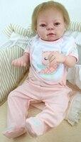 Bebe Возрождается Новый Дизайн 55 см силикона Reborn Baby Куклы Boneca Reborn реалиста модные Куклы для девочек подарок на день рождения