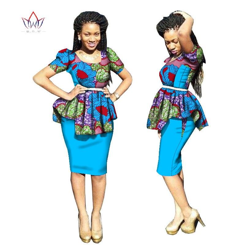 2018 Nykomlingar Traditionell afrikansk klänning Plus Storlek 2 - Nationella kläder - Foto 6