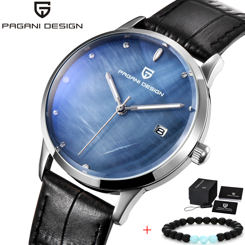 PAGANI DESIGN Ladies Watches Shell Dial Quartz Watch Elegant Fashion Casual Wrist Watches Female Leather Dress Clock Reloj Mujer themen aktuell 2 kursbuch arbeitsbuch lektion 6 10 cd rom