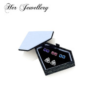 Her Jewellery Triangle earrings set Made with crystals from swarovski , Trendy earrings for women 4 day jewelry HE0290