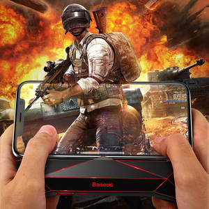 Image 5 - Baseus Game Phone Holder For iPhone XS MAX X Samsung S10 S9 Mobile Phone Cooler Heat Sink Cooling Game Controller Handle Holder