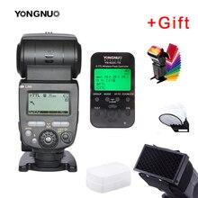 Yongnuo yn685 YN 685 (YN 568EX ii versão atualizada) sem fio hss ttl flash speedlite para canon + YN622C TX + filtro difusor