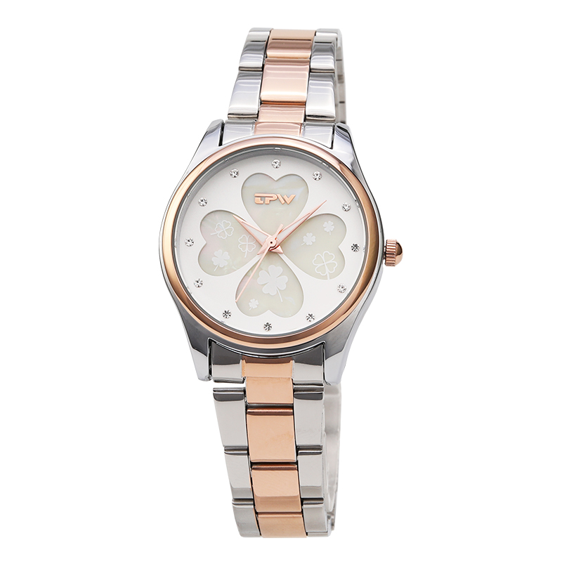 Four Leaf Clover women watch stainless steel band rose gold watches women fashion watch 2018 top brand