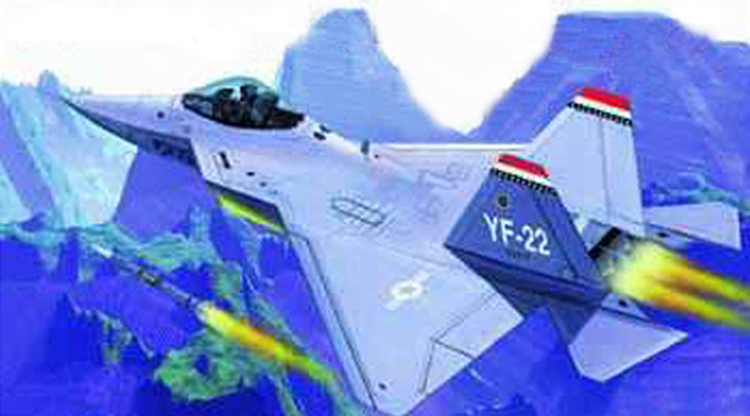 1/144 USA YF-22 Lightning II Fighter Military Assembly Aircraft Model 01331