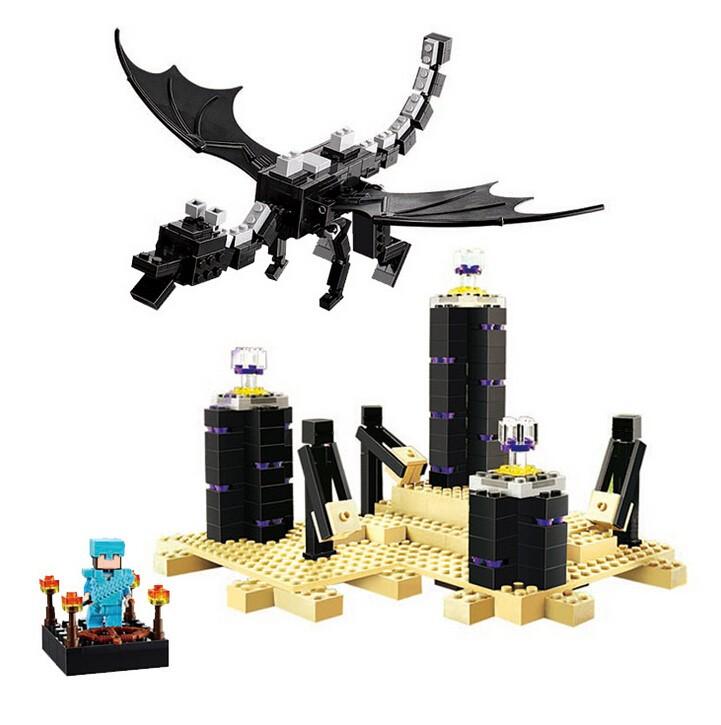 LELE-Bela-632PCS-Ender-Dragon-Legoelieds-Minecraft-Building-Blocks-Bricks-For-Children-Gift-Kids-Toys
