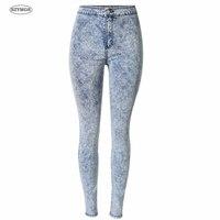 SZYMGS Elastische Sneeuw Wassen Tie Dye jeans vrouw Potlood Broek jeans voor vrouwen jeans elastische mujer femme Skinny jean broek hoge taille