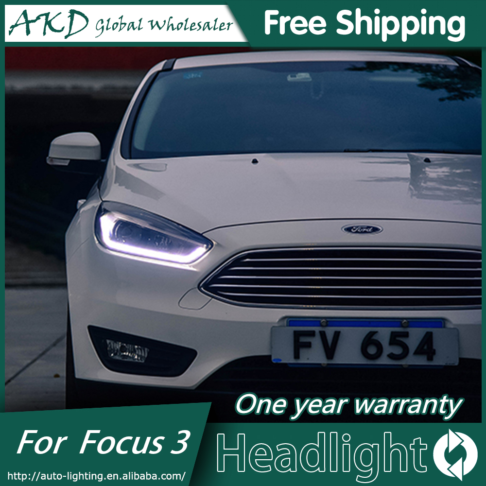 AKD Car Styling for Ford Focus 3 LED Headlights New2015 2018Focus LED  Headlight DRL Bi Xenon Lens High Low Beam Parking Fog Lamp-in Car Light  Assembly from ...
