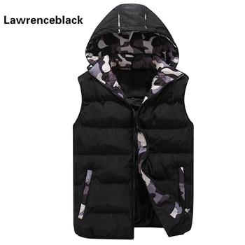Lovers Hooded Vest Men Women Waistcoat W...