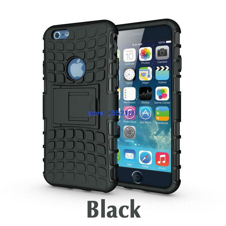 100pcs for font b iPhone b font 6 RUGGED ARMOR SPIDER Defender Case HYBRID W BUILT