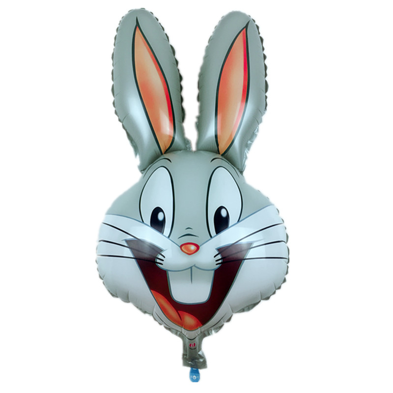 XXPWJ Free shipping new children's toys rabbit head Foil ...
