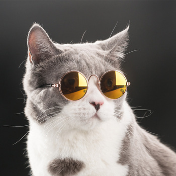 Fashion Cat Glasses For Small Cat Glasses Grooming Pet Dogs Sunglasses Eye Pet Cool Glasses Pet Photos Protection Cat Sunglasses