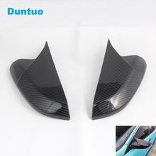 Car Mirrors Cover Rearview Mirror Carbon Fiber Cover For 10th Honda CIVIC 2016 2017 2018(China)