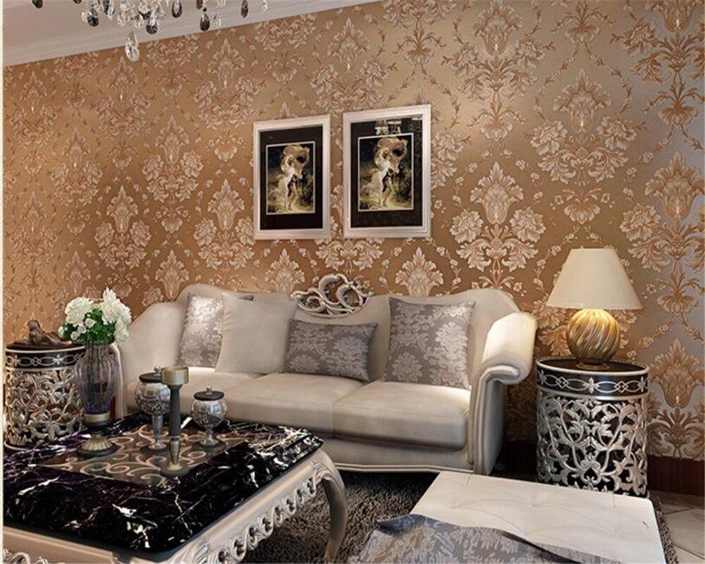 Beibehang vliestapete wohnzimmer warme schlafzimmertapete voller sofa fernsehhintergrundwand papier diamanten papel de paredchina