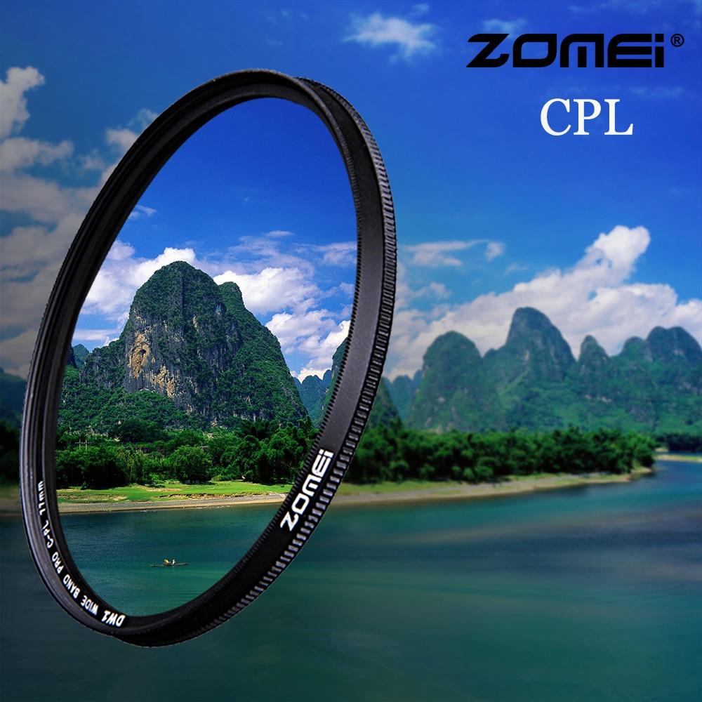 Zomei CPL Camera Filter Circular Polarizing CIR-PL For Nikon Canon Sony DSLR Camera Lens 37/40.5/49/52/55/58/62/67/72/77/82 Mm