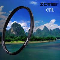Zomei filtre caméra CPL CIR-PL polarisant circulaire pour Nikon Canon Sony objectif appareil photo reflex numérique 37/40. 5/49/52/55/58/62/67/72/77/82mm