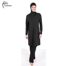 Plain color muslim swimsuit women islamic Swimwear beachwear