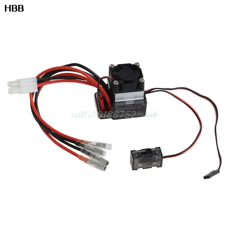 7 2V 16V High Voltage ESC 320A Brushed Speed Controller Fan For RC Car Truck Boat #T026# 1pcs 320a brushed esc speed controller w reverse for 1 8 1 10 rc flat off road monster truck truck car boat dropship