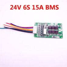Colaier 6S 24V 15A BMS 24v lithium battery BMS for electric bike 24V 8Ah 10Ah 12Ah li-ion battery With balance function