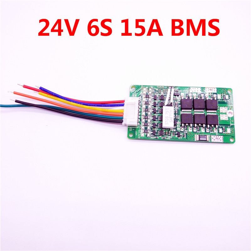 Colaier 6S <font><b>24V</b></font> 15A BMS <font><b>24v</b></font> lithium <font><b>battery</b></font> BMS for <font><b>electric</b></font> <font><b>bike</b></font> <font><b>24V</b></font> <font><b>8Ah</b></font> 10Ah 12Ah li-ion <font><b>battery</b></font> With balance function image