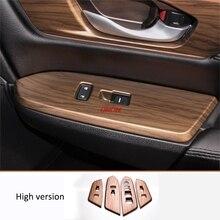 Di legno di pesco grano Finestra di vetro di sollevamento della decorazione del pannello telaio Misura Per Honda CRV CR-V 2017 2018 Accessori