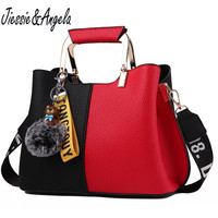 Jiessie Angela New Brand Design Women Leather Handbag Casual Tote Bag High Quality Fashion Female Shoulder