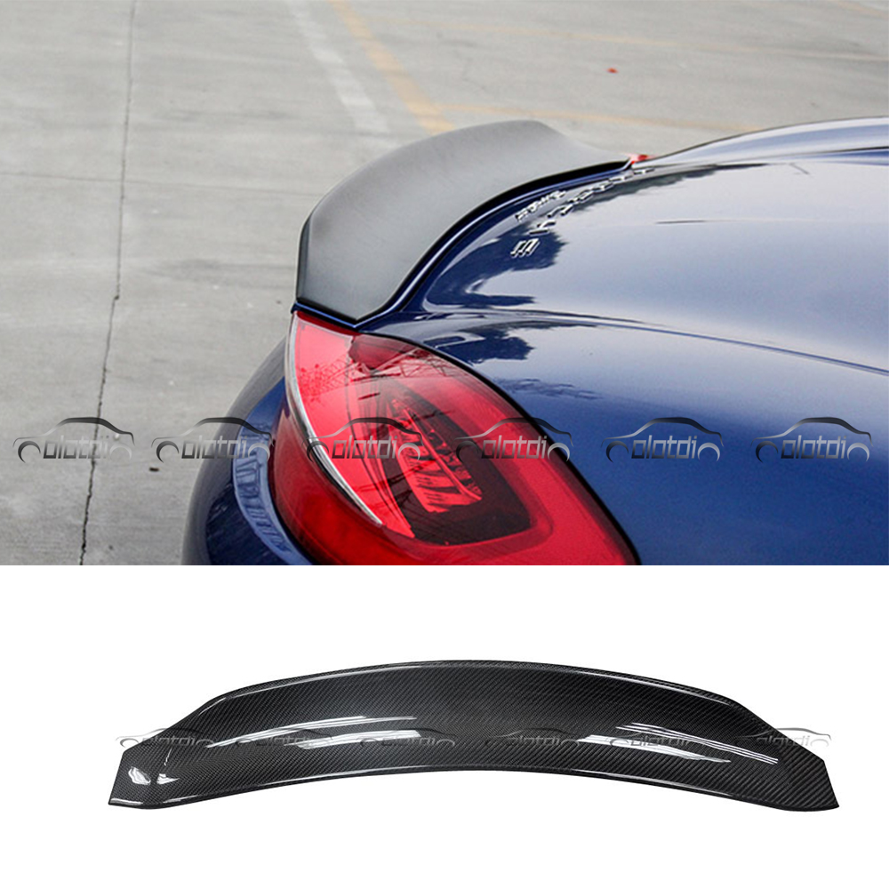 Car Styling Duckbill Mini Rear Trunk Lip Wing Spoiler Splitter for Porsche 981 Cayman 2010 2011 2012 2014 2015 2016 car styling carbon fiber auto rear wing spoiler lip for vw scirocco 2010 2012