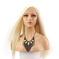 Eseewigs Blonde Straight Lace Front Human Hair Wigs For Women #60 Side Part Brazilian Remy Human Hair Lace Front Wigs Platinum