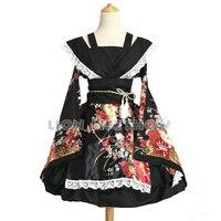 של נשים יפני קימונו יאקאטה dress קוספליי לוליטה ילדה תלבושות בתוספת גודל