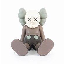 Новый оригинальный поддельные Тайбэя предел KAWS прототип Брайан сидя осанка Виниловая фигурка Коллекция Модель игрушки X117