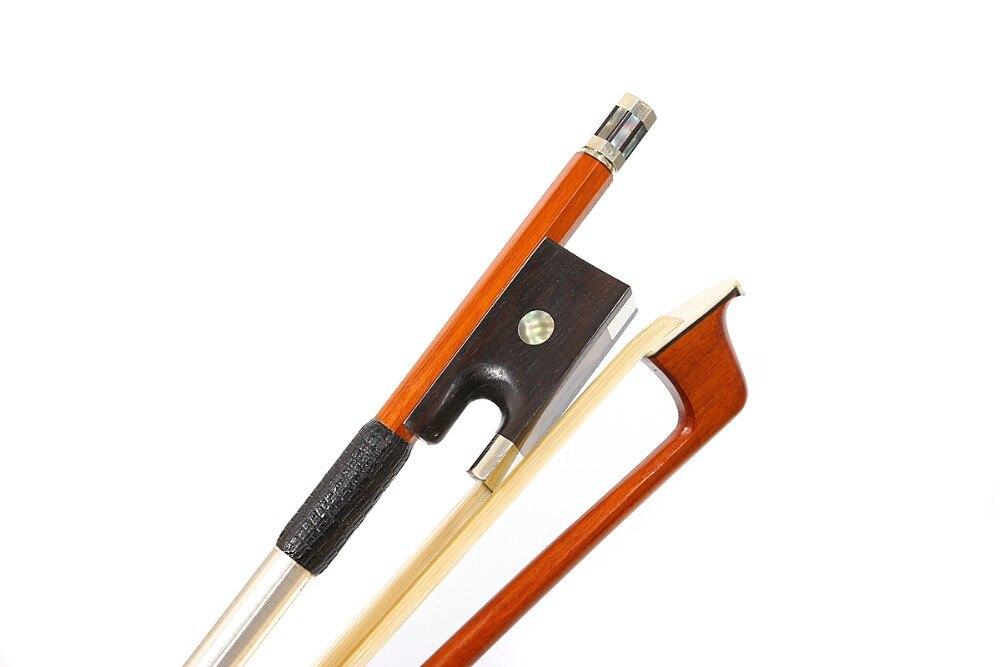 4/4 Violin Bow Pernambuco Wood Straight Bow For Violin Advance Model Natural Bow Hair