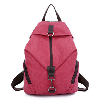 Aliexpress.com : Buy Pretty style pure color canvas women backpack ...