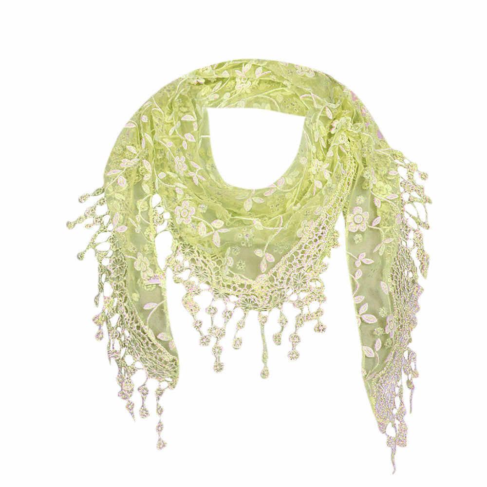MUQGEW кисточкой шарф-хиджаб национальные мусульманских Для женщин кружева цветочный, шарф-шаль Обёрточная бумага шарф с кисточками