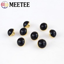 Meetee 100pcs 10mm Shirt Plastic Button DIY Coat Clothing Decoration Sewing Handmade Crafts Accessories BD323