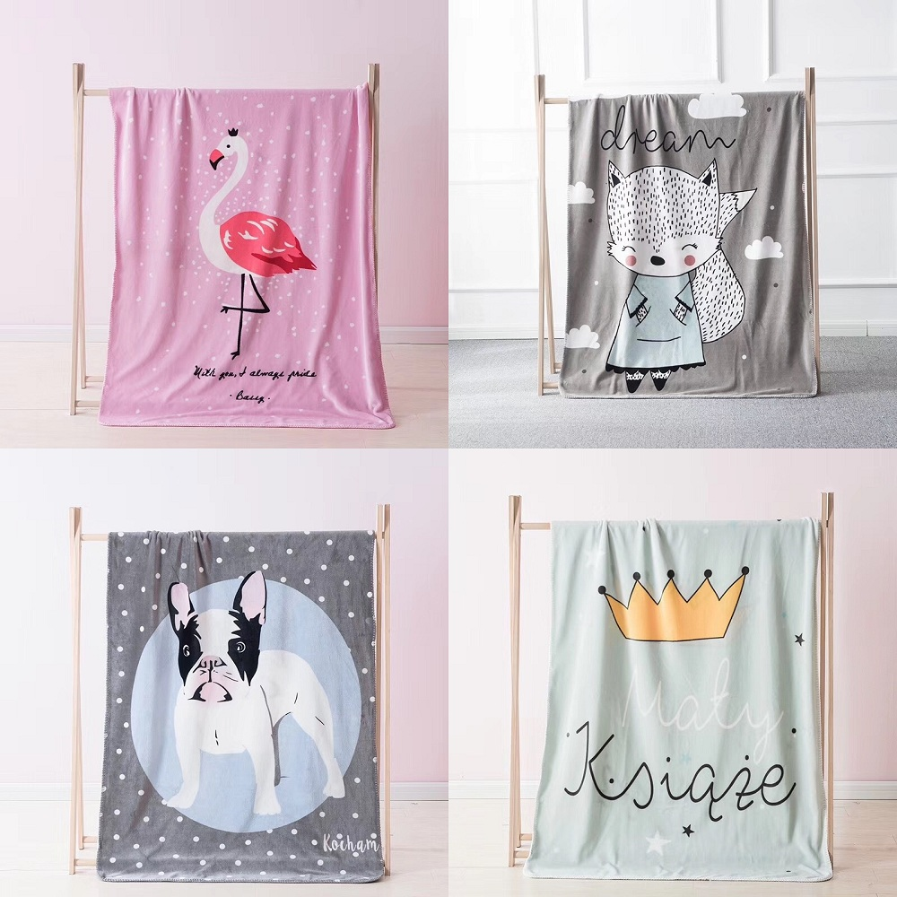 12 Styles Cartoon Animals Dog Rabbit Fox Pattern Baby Play Mats Multi-function Blanket Nordic Style Kids Room Decor Photo Props ...