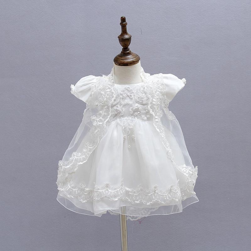 BBWONLIN Baby Girl Ristimine kleit 0-1 aastase sünnipäeva kleit - Beebiriided - Foto 2