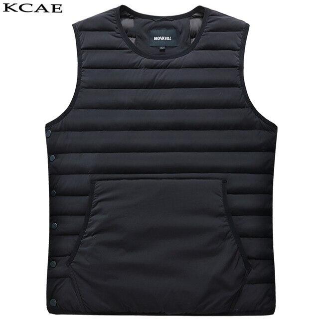 Hot 2016 Inverno Elegante Ultra Light Duck Down Jacket Homens Novo colete Mens Jaquetas E Casacos Casual M-3XL