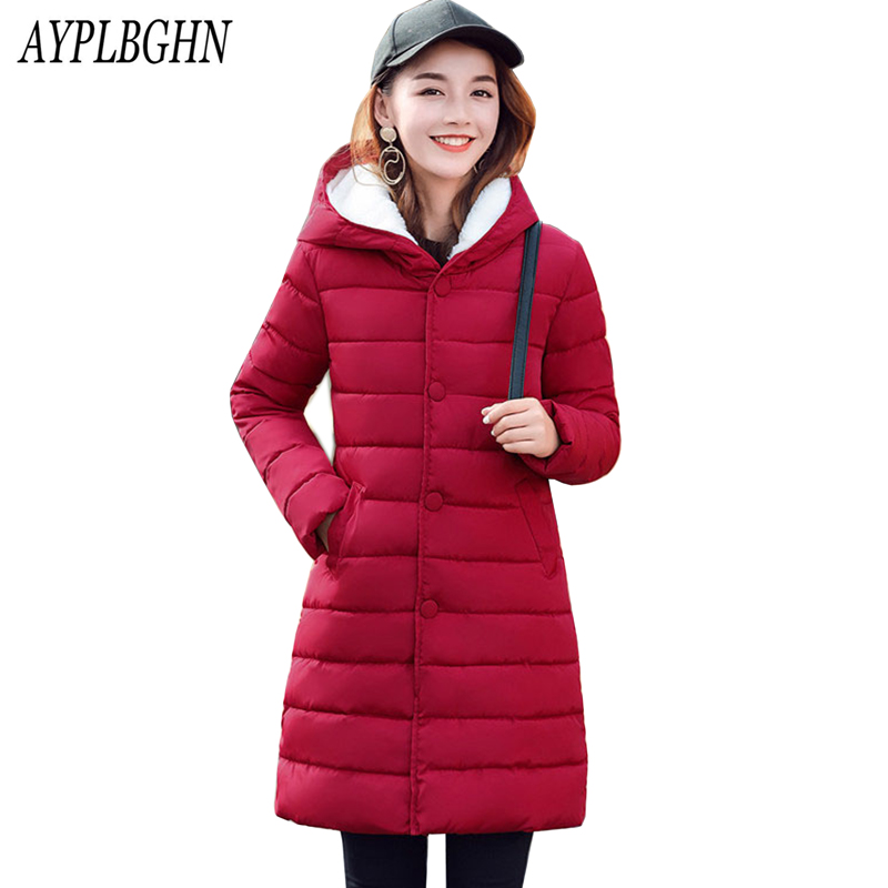 Snow Wear Winter Coats Women Slim Thick Warm Clothing Outerwear Plus Size Medium-Long Cotton Parkas Winter Jacket plus size 6L45 women winter coat cotton wadded clothing zipper female hooded thick coats slim warm parkas pockets ladies outerwear plus size