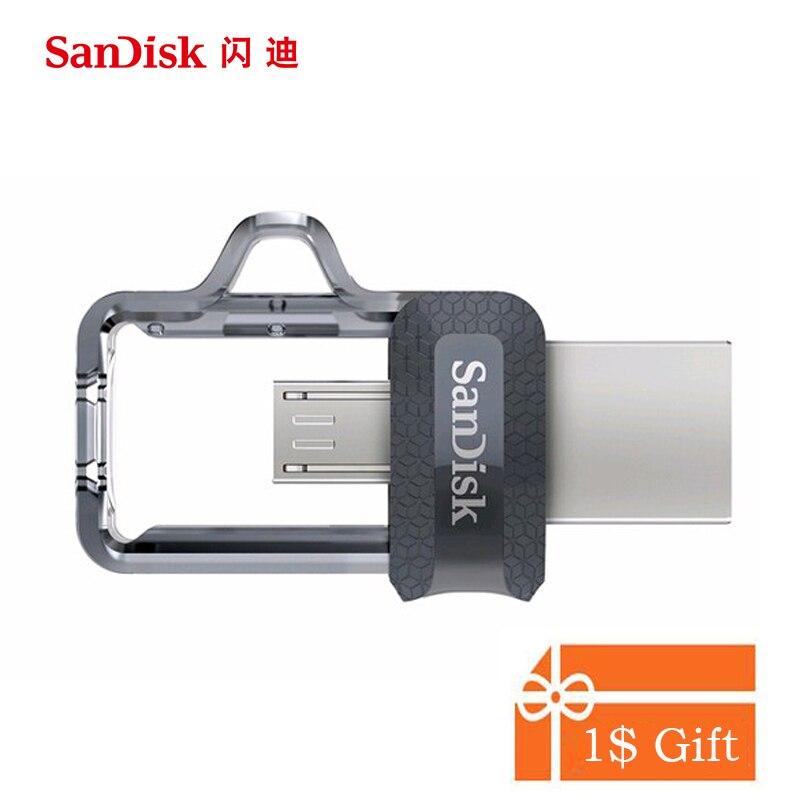 Sandisk 150 МБ/с. USB Flash Drive 8 ГБ 16 ГБ 32 ГБ 64 ГБ 128 ГБ 256 ГБ двойной OTG USB 3.0 Pen Drives Stick U диск для компьютера телефона ПК