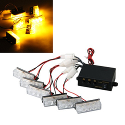 Auto yellow 18 led strobe dash emergency flashing warning light for car truck.jpg 250x250