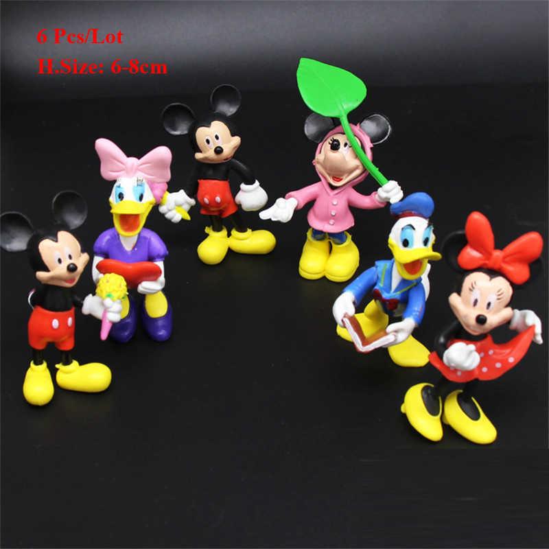 יום הולדת מיני מיקי קישוט עוגת צילינדר צעצועים לתינוק ילדים בני ילדי מתנה בנות ילדים מיקי יום הולדת cupcake toppers